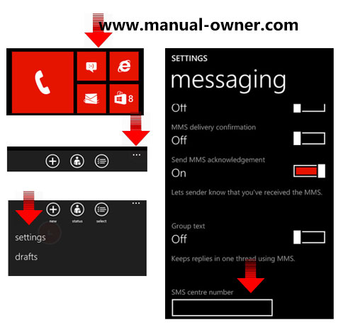 Setup the Lumia 520 for text messaging