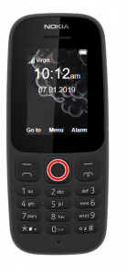 Set date and time on Nokia 105